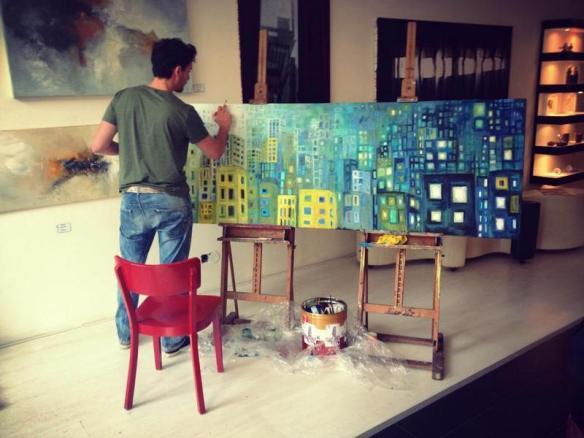 L-Tuziasm Painting in the PopUp Galerie Utrecht