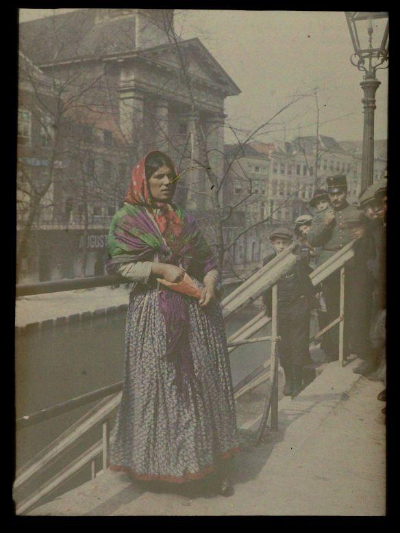 Zigeunerin, Oudegracht, Utrecht, Sebastiaan Alphonse Van Besten, 1915