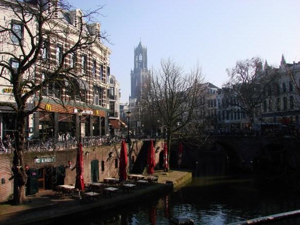 Utrecht Oudegracht and Domtoren