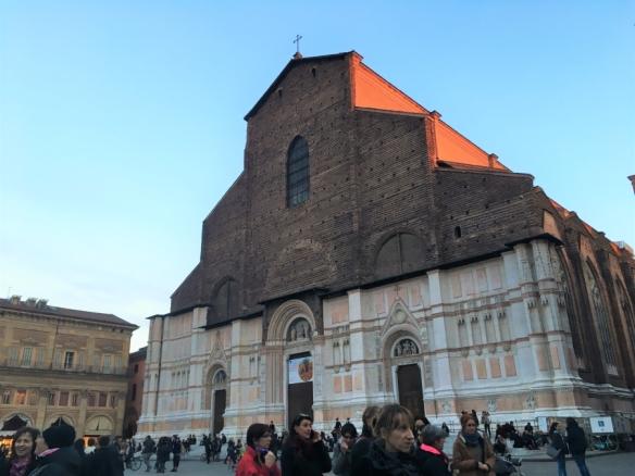 a flamingo in italy bologna basilica architecture san petronio